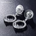 ANFASNI Brand Fashion Earring New Wedding Bijoux AAA Cubic Zirconia Earring For Women CER0030-B