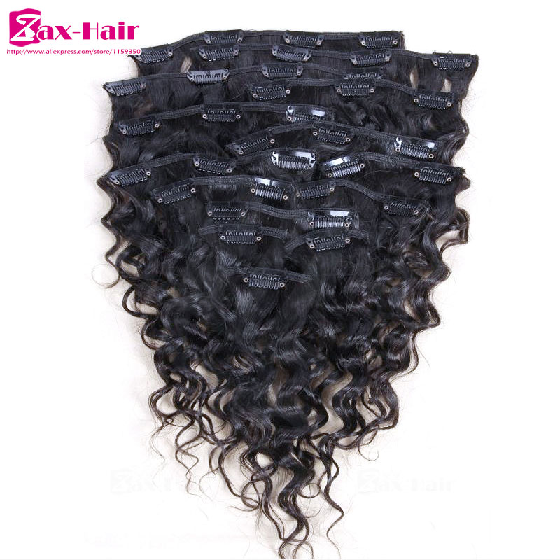 Clip In Human Hair Extensions Curly African American Clip In Hair