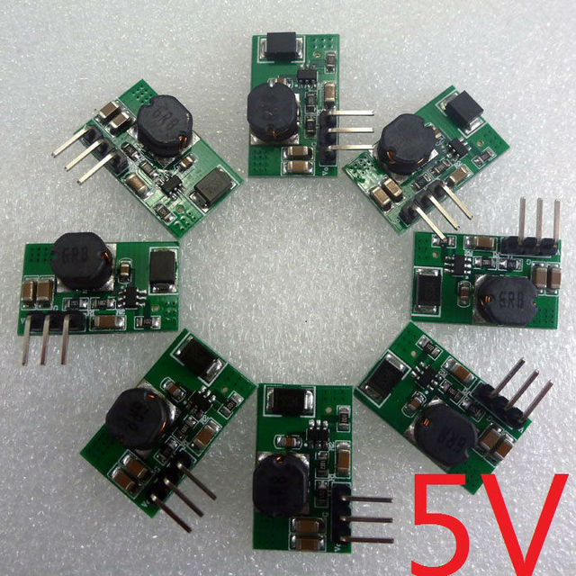 8pcs 10W Breadboard Power Module DC 6.5V-23V 12V to 5V DC DC Converter replace mb102 AMS1117 LM2596