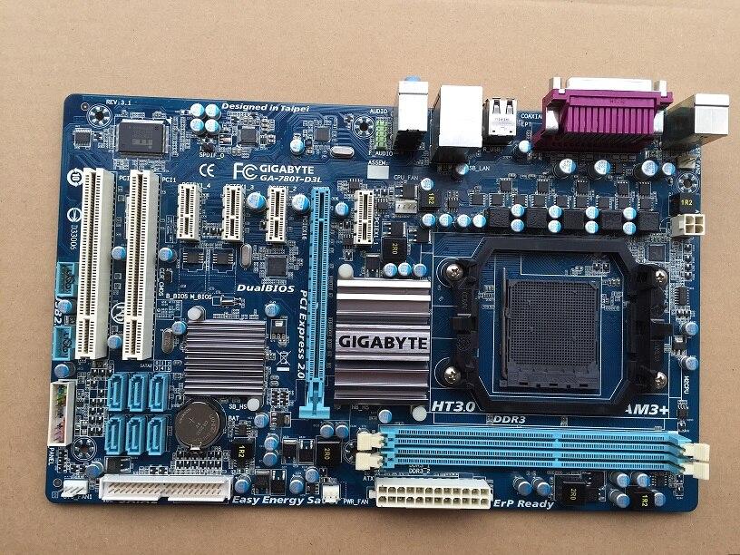 D'origine carte mère pour Gigabyte GA-780T-D3L DDR3 Socket AM3 + 780T-D3L conseils 16 GB 760G cartes mères De Bureau
