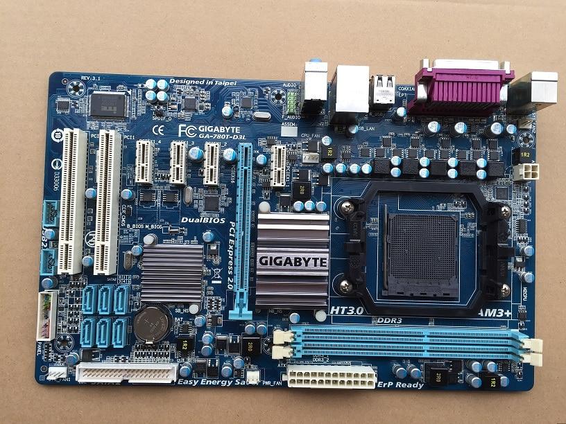 Оригинальный материнская плата для Gigabyte GA-780T-D3L DDR3 разъем AM3 + 780T-D3L доски 16 ГБ 760 г настольных материнских плат