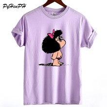 Toda Mafalda футболка женские летние топы с короткими рукавами Harajuku хлопковая свободная футболка женская хип-хоп потрясающая футболка с круглым вырезом