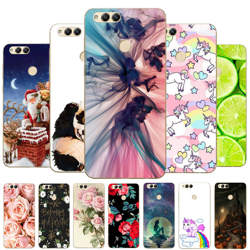 "Soft TPU Honor 7X Case Cover Drawing Painted 5.93"" Huawei Honor 7X Case Phone Back Protective Silicone Case Honor 7"
