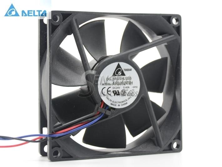 Venta al por mayor Delta 9025 9 cm 9225 92 * 92 * 25 MM afb0924vh 24 v 90 mm ventilador 0.4a convertidor de frecuencia doble bola ventilador de refrigeración