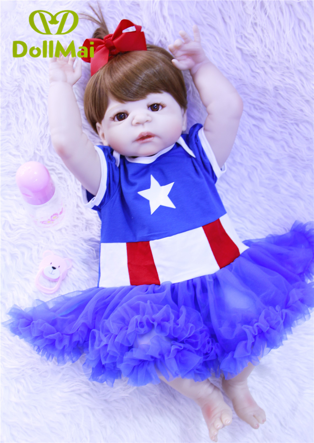 Bebes reborn poupée silicone reborn reborn bébé poupées lol poupée brinquedos boneca reborn cadeau de noël pour fille anniversaire DOLLMAI - 5