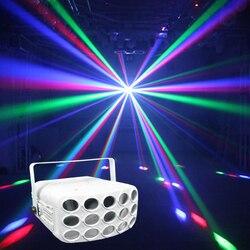 2018 colorful RGBW 4in1 LED della discoteca fascio di luce 30 W butteryfly del partito luci dmx 512 bar di illuminazione del dj della fase professionale proiettore