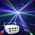 2018 colorido RGBW 4in1 LED disco haz luz 30 W butteryfly fiesta luces dmx 512 bar Iluminación dj escenario profesional proyector