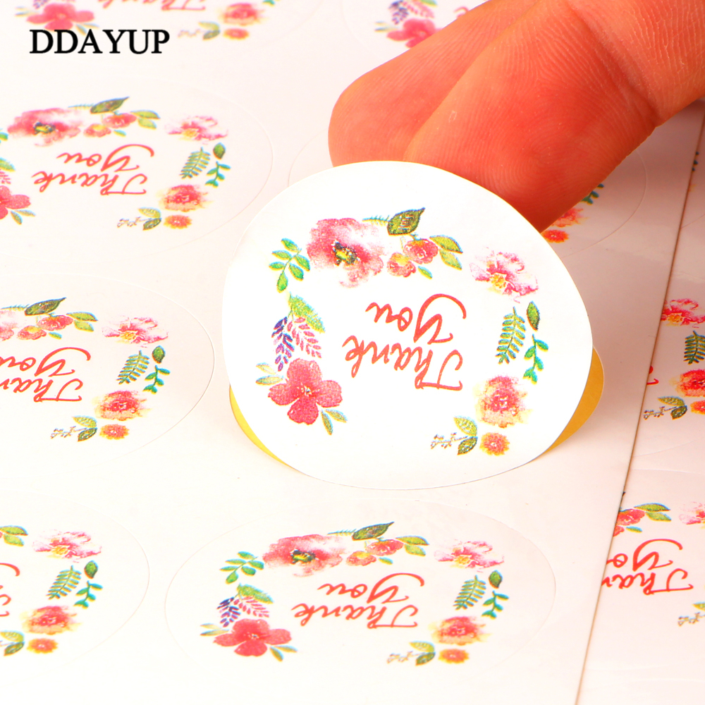 100 Pcs/10 Sheet Flower Design Sticker Labels For Creative Paper Stickers Thank You Seals For Gifts Cake Baking Sealing address adhesive stickers labels 100 100mm 500 sheets thermal papers for labeling and sealing marks wholesale with a good price