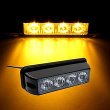 Car LED Emergency Warning Light Bar 12V/24V Amber Yellow led Strobe Flash light Universal fit for SUV Offroad Truck(China)