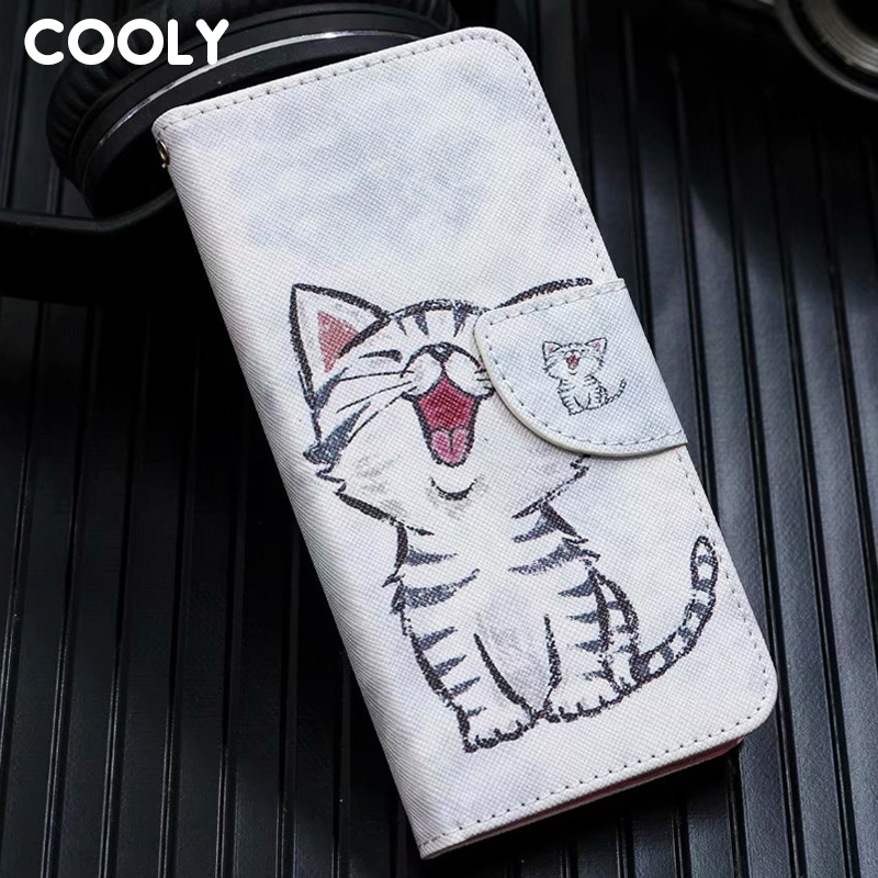 COOLY <font><b>Leather</b></font> Wallet <font><b>Flip</b></font> <font><b>Case</b></font> For iPod touch 5 6 Cover For <font><b>iphone</b></font> 5S 5 SE 6 6S <font><b>7</b></font> 8 Plus X XR XS Max Cat Leaf Marble Phone Coque image