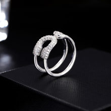 Scarf Ring U Shape Scarf Buckle Rings Shalws Wraps Clip 2.4*1.2cm Pure Copper Zircon Jewelry Female Accessories(China)