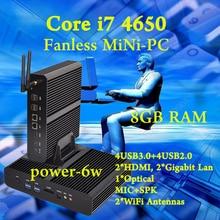 Mini pc Intel core i7 4650U Fanless Barebone HTPC Intel Nuc Sans Broadwell Graphique HD 5500 300M Wifi PC 8GB RAM The best meal