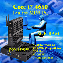 Мини пк Intel core i7 4650U Безвентиляторный Barebone HTPC Intel Nuc Без бродуэлл Graphique HD 5500 300 М Wifi ПК 8 ГБ RAM лучшая еда