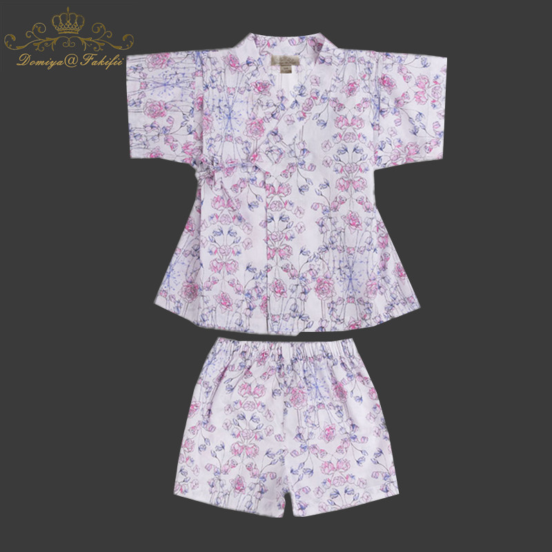 2018 Baby Girls Sleepwear Summer Sets Children Clothing Short Sleeve Flower Pajamas Set for Girls Costume for Kids Clothes Sets 2016 spring girls clothes girls clothing sets new arrival female child flower print o neck pullover short skirt set baby twinset