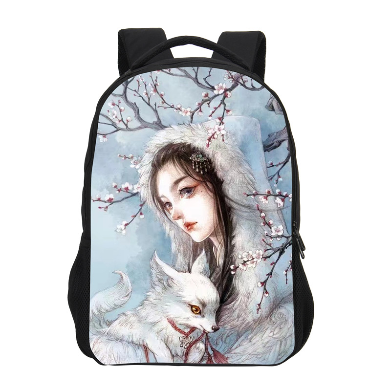 VEEVANV Brand Backpack For Grils Fashion 3D Anime Cartoon Printing Backpack Children Shoulder Bag Casual Daily Backpack Mochila ...