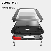 LOVE MEI Aluminum Metal Case For LG V40 V10 V20 V30 Cover Powerful Outdoor Armor Shockproof Waterproof Case For LG V30 V20 Cover