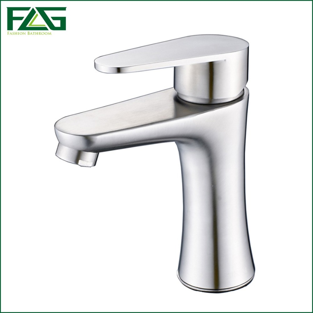 Washroom Taps : ... Washroom Tap Vanity Sink Brushed Nickel Bath Tap SS014 flg bath mat