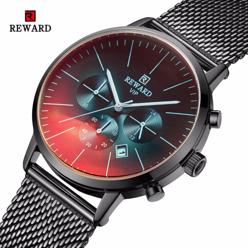 REWARD Men Watch Fashion Colorful Chronograph Sport Watch Men Waterproof Men's Watch Reward Clock Reloj Hombre Relogio Masculino