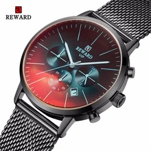 REWARD Men Watch Fashion Colorful Chronograph Sport Watch Men Waterproof Men's W