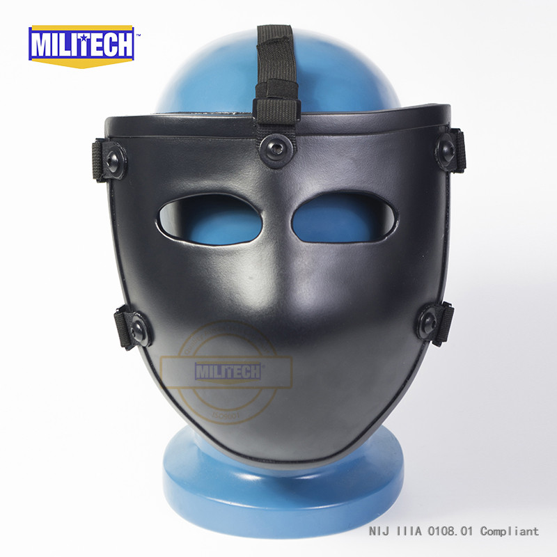 Image 4 - MILITECH Ballistic Mask Bullet proof Visor NIJ level IIIA 3A Aramid Bulletproof Tactical Mask NIJ Rated Ballistic Face Cover-in Safety Helmet from Security & Protection