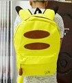 Mochilas escolares para Adolescentes Chica Mochilas de Anime japonés Pokemon Amarillo Grande Pikachu Kawaii Mochila Portátil Mochila Feminina P171