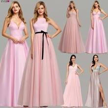 Розовые платья выпускного вечера 2020 ever pretty a line с блестками