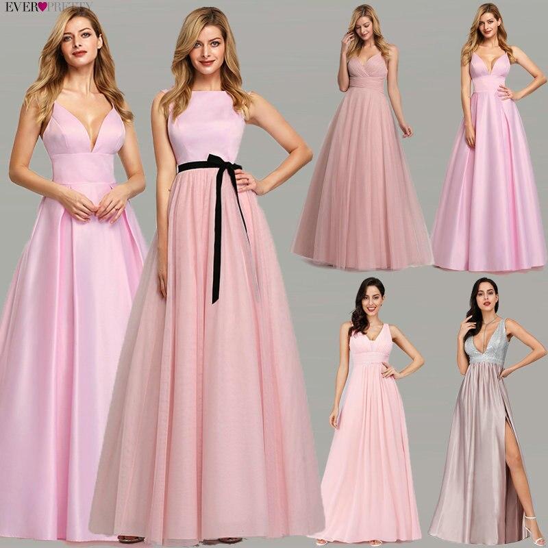Pink Prom Dresses 2020 Ever Pretty A-Line Sequined Elegant Women Dresses Evening Party Special Occasion Mezuniyet Elbiseleri