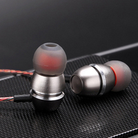Original D01 Bass Earphones Double Moding Metal Headset With Mic For IPhone Xiaomi Samsung Mp3 Mp4