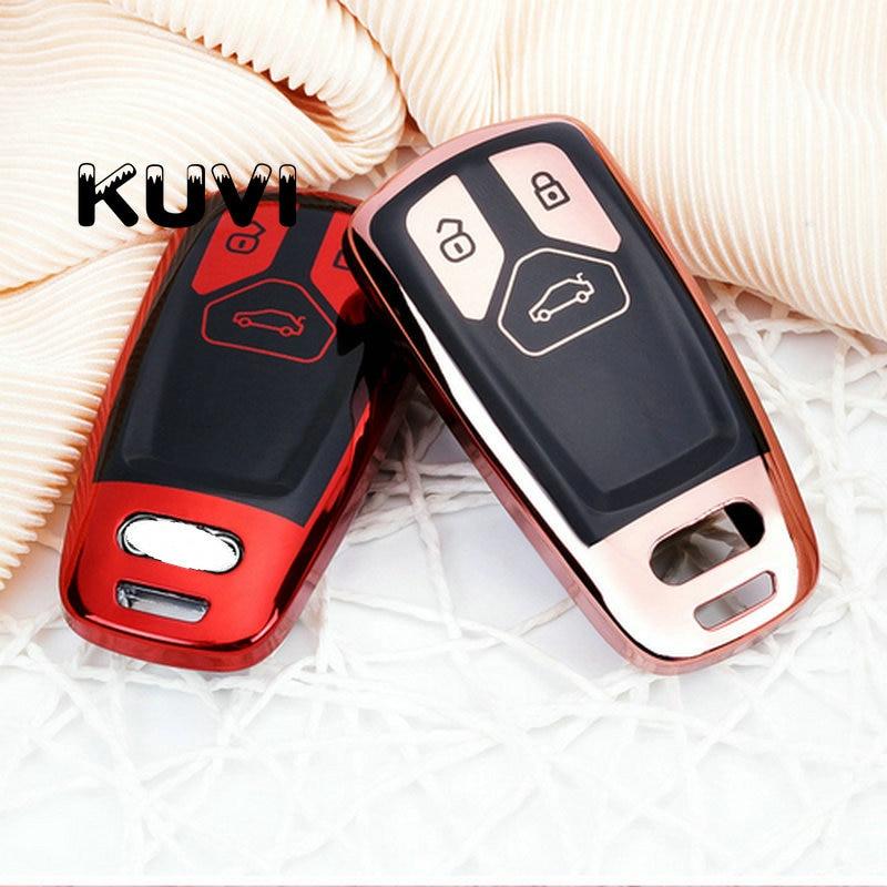 TPU Car Key Cover Case TPU Car Styling Key Cover Case For AUDI A4 B9 Q5 Q7 TT TTS 8S 2016 2017 car keyless remote