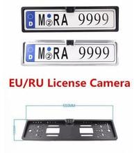 Car EU/ RU European License Plate Frame Rear View Night Vision HD Camera Reverse Backup Camera Vehicle Rearview Parking Camera
