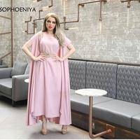 New Arrival Chiffon Evening dresses 2019 Ankle length Arabic evening gowns vestido Formal dress party robe soiree ever pretty