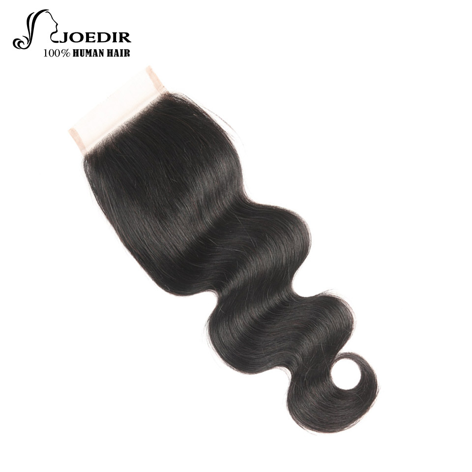 Joedir Malaysian Body Wave Closure Frontal 100% Remy Human Hair Lace Closure Natural Black Three/Free/Middle Part Top Closure