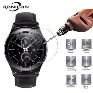 Image 2 - 2 חתיכות עבור Samsung הילוך S3 קלאסי מזג זכוכית Ultra Cltra 9H עבור Samsung הילוך S3 Frontier Smartwatch סרט מסך מגן