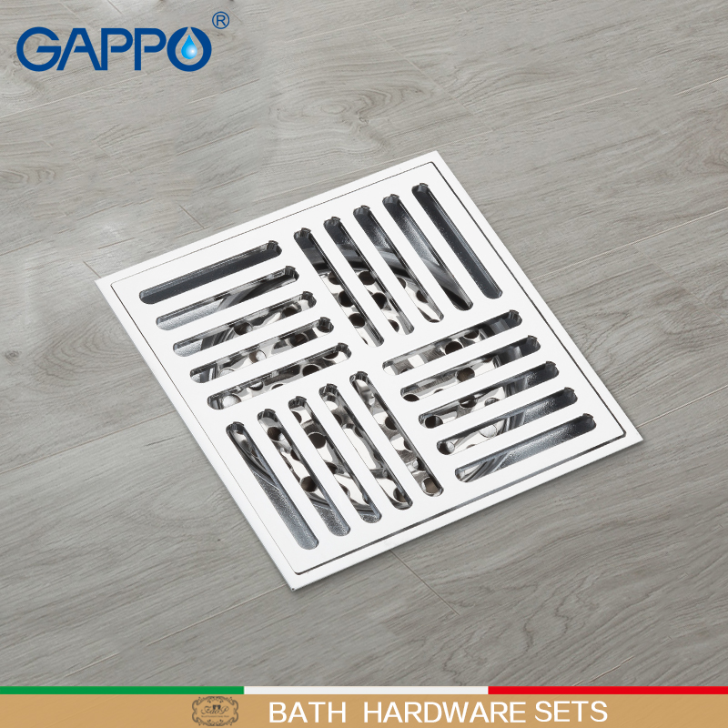 GAPPO Drains Anti-odor shower drain Strainer Bathroom floor cover Drain Drainers Stopper Shower Floor drain brass waste stoppers
