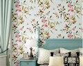 Обои шинуазри  деревья птицы  цветы  рулоны  Винтажные Цветы и птицы  3D обои  рулон  papel de parede