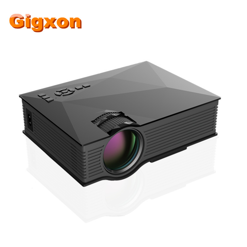 Gigxon - G46 Multimedia 1200 Lumens WiFi Wireless Portable LCD LED Home Theater Projector UC46 Support 1080P IR/USB/SD/HDMI/VGA gigxon g700a android portable mini projector support full hd level 1920x1080pixels 1200 lumens led projector