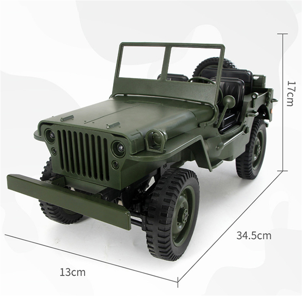 Q65 Transporter-6 2.4G 1:10 Remote Control Car 4WD Convertible Jeep Willy Four-wheel Drive Climbing RC Car willys jeep 1 10