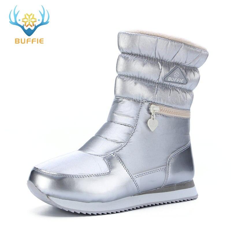 2018 New style women boots fashion silver winter bo