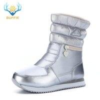 Frauen silber stiefel licht engen nizza winter stiefel warme schnee schuhe Marke Buffie hohe punktzahl kommentare einkaufen boot freies schiff