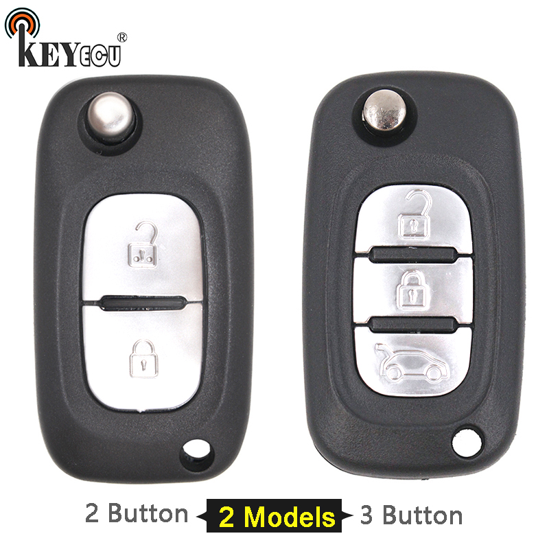 цена KEYECU 1x/ 2x for Renault Fluence Clio Megane Kangoo Modus Flip Folding 2 / 3 Button Car Remote Key Case Shell Cover Fob