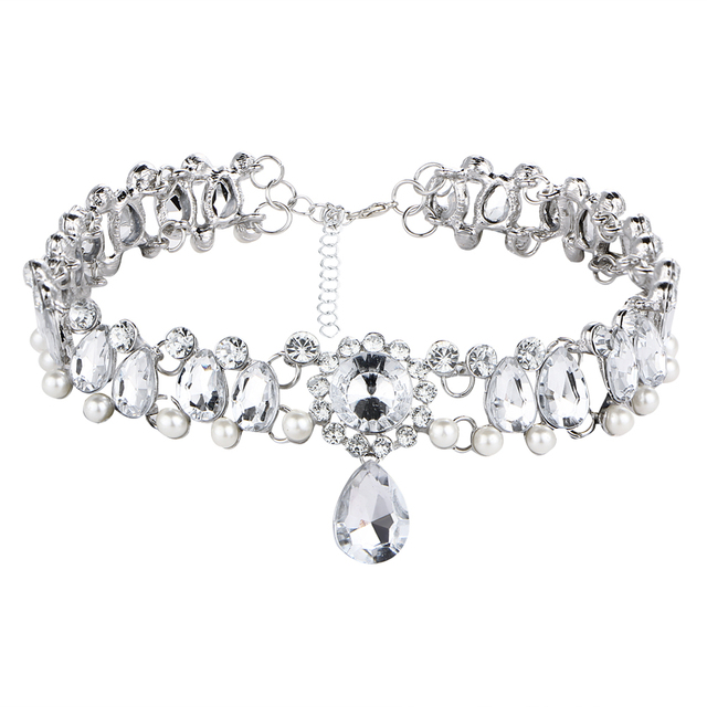 Boho Collar Choker Water Drop Crystal