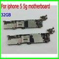 100% original desbloqueado para iphone 5 5g motherboard, 32 gb para iphone 5 5g placas com chips de celular, bom trabalho & livre grátis