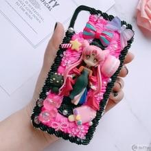 Dành Cho Samsung S9/10 Plus + Tự Làm Ốp Lưng Note8/Note9 3D Thủy Thủ Mặt Trăng Bao Bọc Điện Thoại Galaxy S8/s9 + S6/S7 Edge Mem Kem Ốp Lưng Cô Gái Quà Tặng