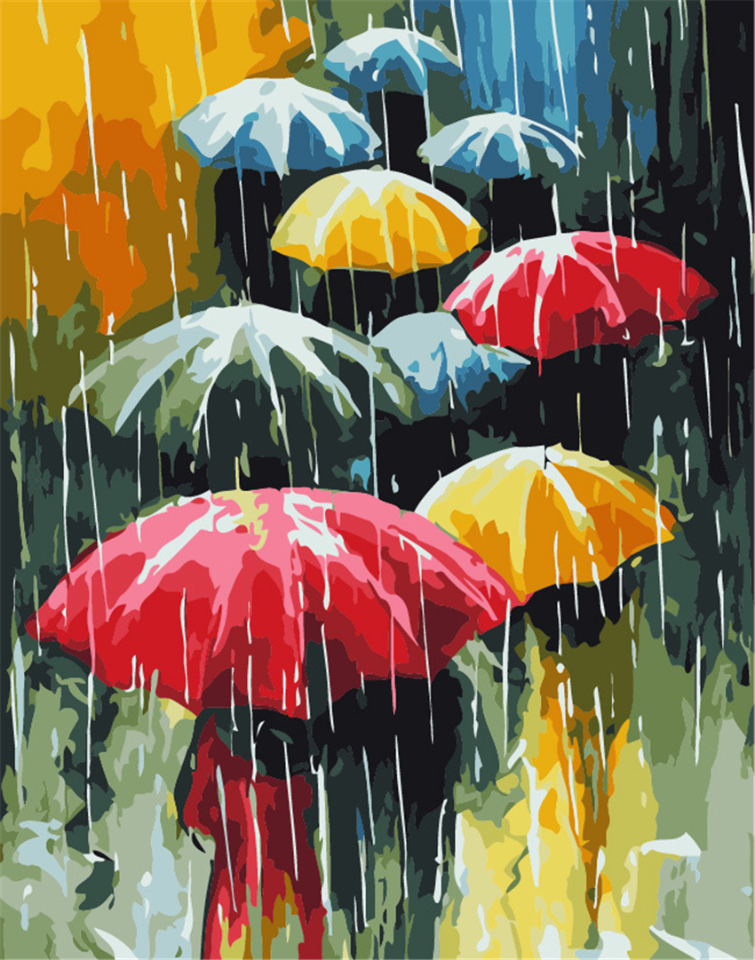 popular umbrella coloring picturebuy cheap umbrella coloring  - d diy digital canvas painting  new arrival frameless pictures coloringby numbers modern home wall