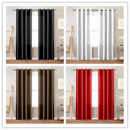 Satin Curtains Room Darkening Cheap Curtains for Living Room Bedroom 1 Panel