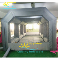 Oxford Fabric Mobile Car Wash Tent Inflatable used inflatable car spray paint booth for sale