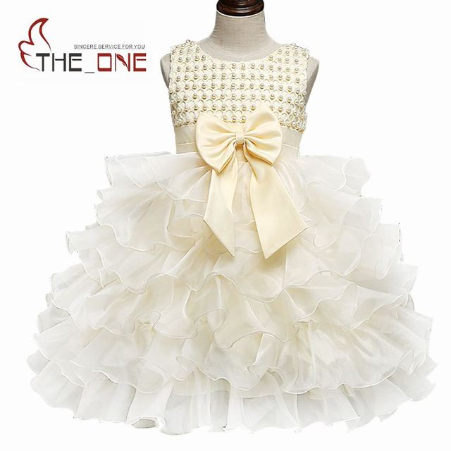 9239addec46 Baby Girls Beadings Tutu Dresses Toddler Kids Cute Bow Princess Party Dress  Girl Wedding Costume Infant