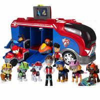 Pata patrulha brinquedos conjunto ação & brinquedo figuras figura de ação anime patrulha pata everest patrulla canina ônibus resgate carro brinquedo conjunto p