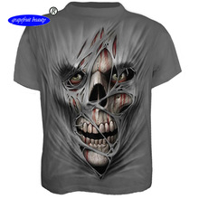 2019 autumn new large size mens wear t-shirt European o neck 3D digital printing short-sleeved T-shirt wholesale t shirts