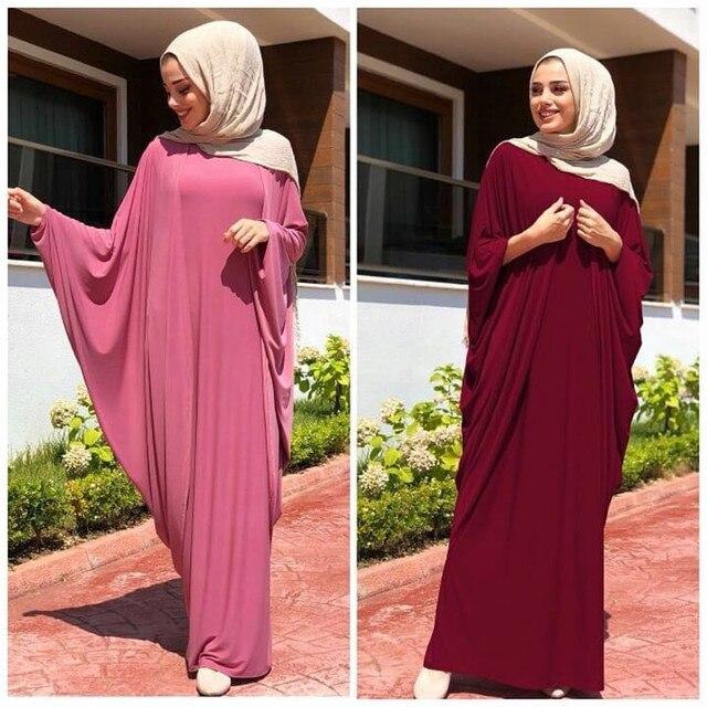 Women Prayer Garment Muslim Clothing One Piece Hijabs Abaya Robe Dress Ramadan Bat Gown Islamic Dubai Saudi Arab Middle Eastern